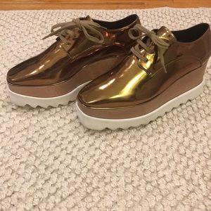 Stella McCartney Elyse Copper Gold Shoes